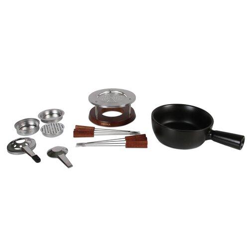1|5 L Fondue-Set Nero aus Edelstahl| Keramik und Holz Boska Holland | Küche und Esszimmer > Küchengeräte > Fondue | Boska Holland