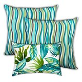 Sealcove Ocean Waves Indoor / Outdoor Floral Pillow Cover