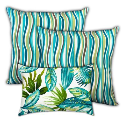 Quesada Ocean Waves Indoor / Outdoor Pillow by Bayou Breeze Cheap