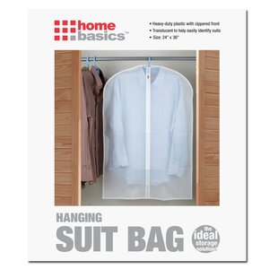 Read Reviews Transparent Peva Suit Bag (Set of 2) By Home Basics