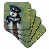 Set of 4 3dRose cst/_5774/_3 Money One hundred dollars Ceramic Tile Coasters