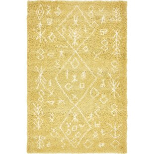 France Machine woven Yellow Area Rug by Mistana