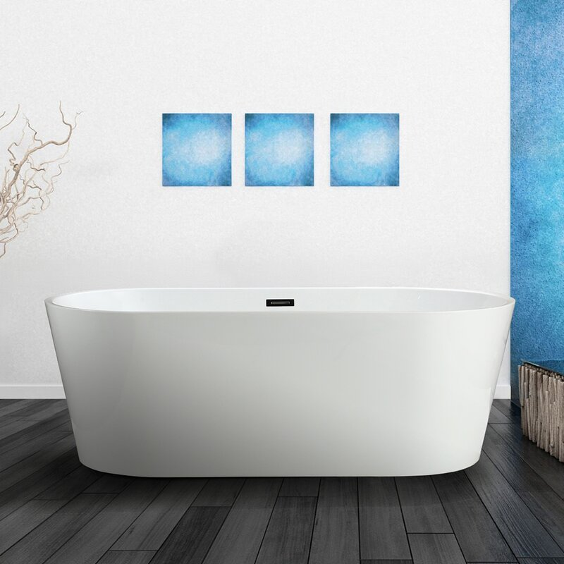 "vinnova lumina 59"" x 29.5"" soaking bathtub & reviews 