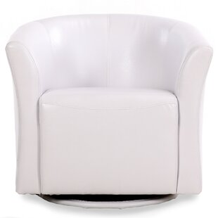 White Barrel Swivel Chair | Wayfair