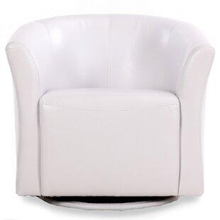 Clinard Swivel Barrel Chair by Ebern Designs
