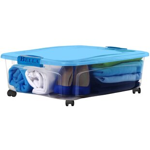 Find a 36 qt. Underbed Locking Lid Storage Box (Set of 4) By Bella Storage Solution