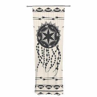 Famenxt Bohemian Dream Catcher Boho Decorative Graphic Print Text Sheer Rod Pocket Curtain Panels Set Of 2