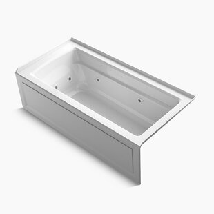Kohler Archer Integral Apron Whirlpool with Tile Flange, Right-Hand Drain and Heater