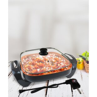 Non-Stick Electric Skillet set with lid By Volar Ideas