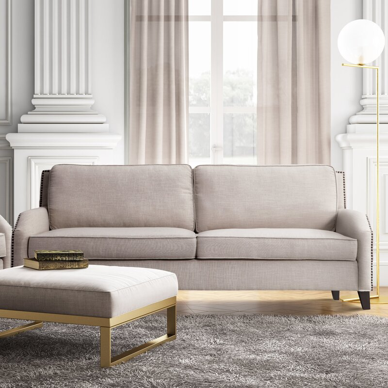 default_name - Willa Arlo Interiors Hanriette Linen Sofa & Reviews Wayfair
