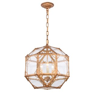 Puccio 3-Light Geometric Chandelier by One Allium Way