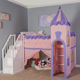 Phung Princess Loft with Stairs by Zoomie Kids