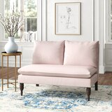 Sidonie Cotton 47 Armless Settee by Kelly Clarkson Home