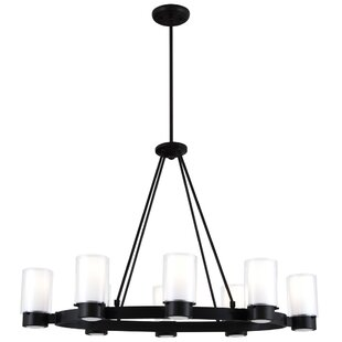 DVI Essex 8-Light Wagon Wheel Chandelier
