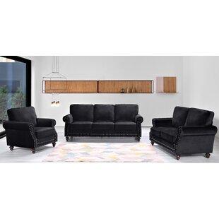 Fegley 3 Piece Living Room Set by House of Hampton