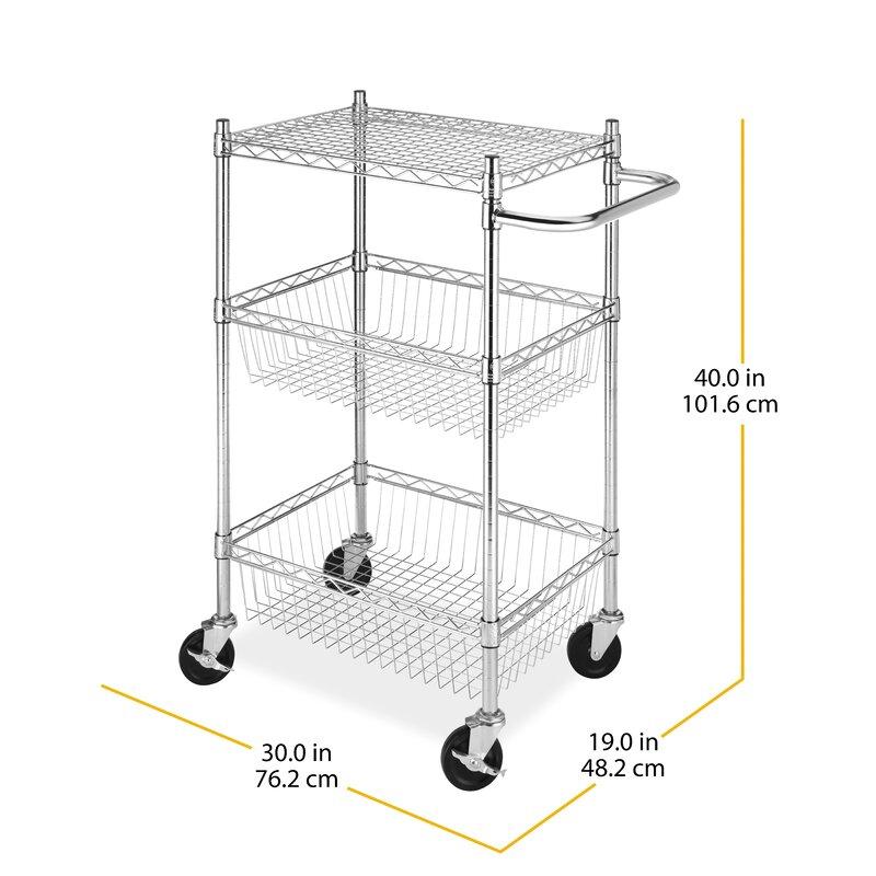 d4d76ff02ef8 Tier Commerical Basket Utility Cart