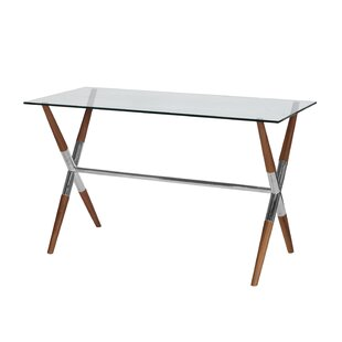 Graham BR Glass Writing Desk by Worlds Away Today Sale Only
