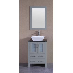 Shop For Grundy 24 Single Bathroom Vanity Set with Mirror By Highland Dunes