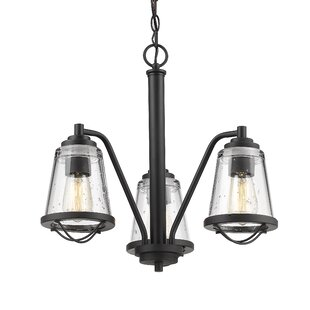 Breakwater Bay Crowder 3-Light Shaded Chandelier