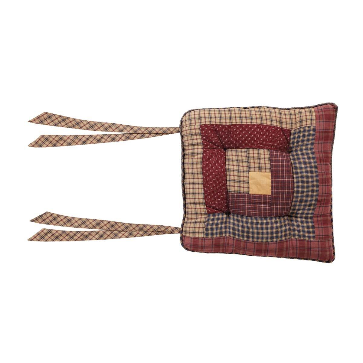 August Grove Log Cabin Patch Seat Cushion Wayfair