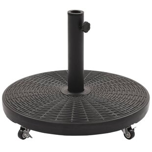 Plastic And Concrete Free Standing Umbrella Base By Freeport Park