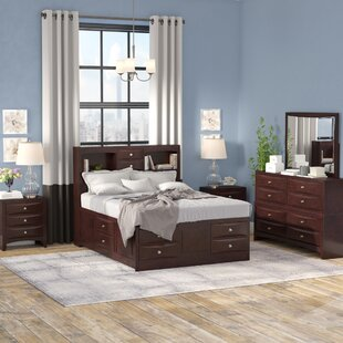 Oreland Platform 5 Piece Espresso Bedroom Set