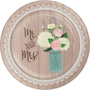 Rustic Wedding Paper Appetizer Plate (Set of 24)