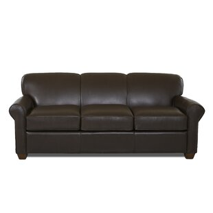 Wayfair Custom Upholstery™ Jennifer Leather Sofa Bed