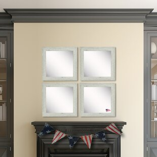 Gracie Oaks Pevensey Washed Accent Mirror (Set of 4)