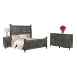Buena Park Sleigh Solid Wood 3 Piece Bedroom Set by Bungalow Rose
