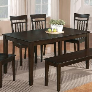 Charlton Home Smyrna Solid Wood Dining Table