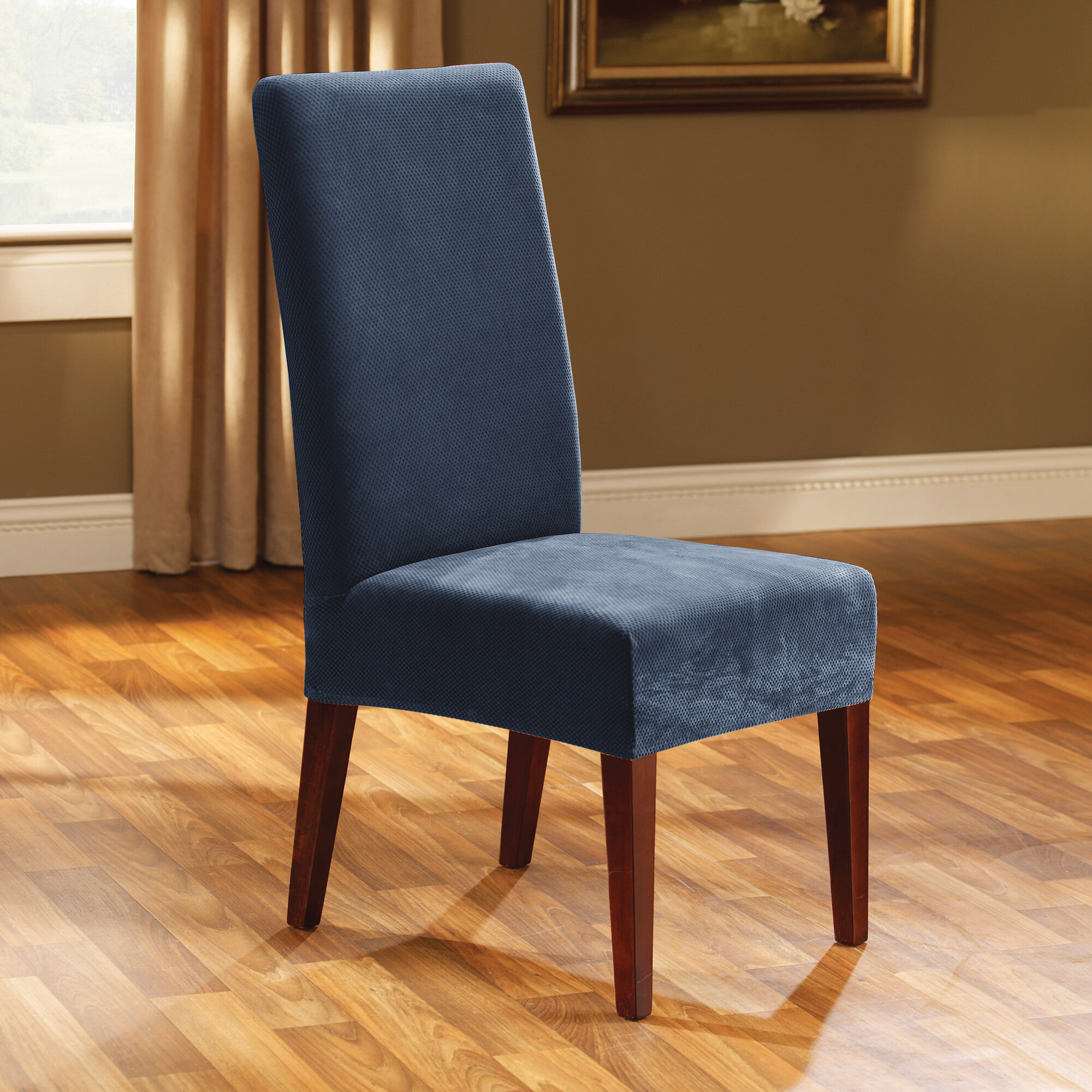 Sure Fit Stretch Pique Box Cushion Dining Chair Slipcover Reviews Wayfair