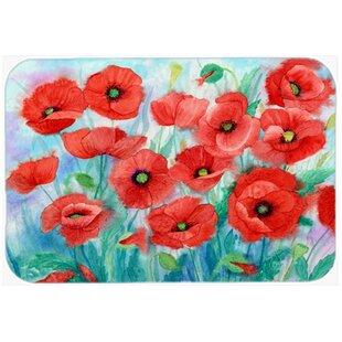 Poppies Glass Cutting Board