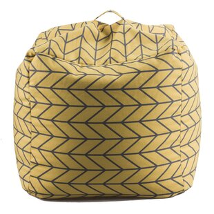 Geometric Bean Bag Chair by 14 Karat Home Inc.