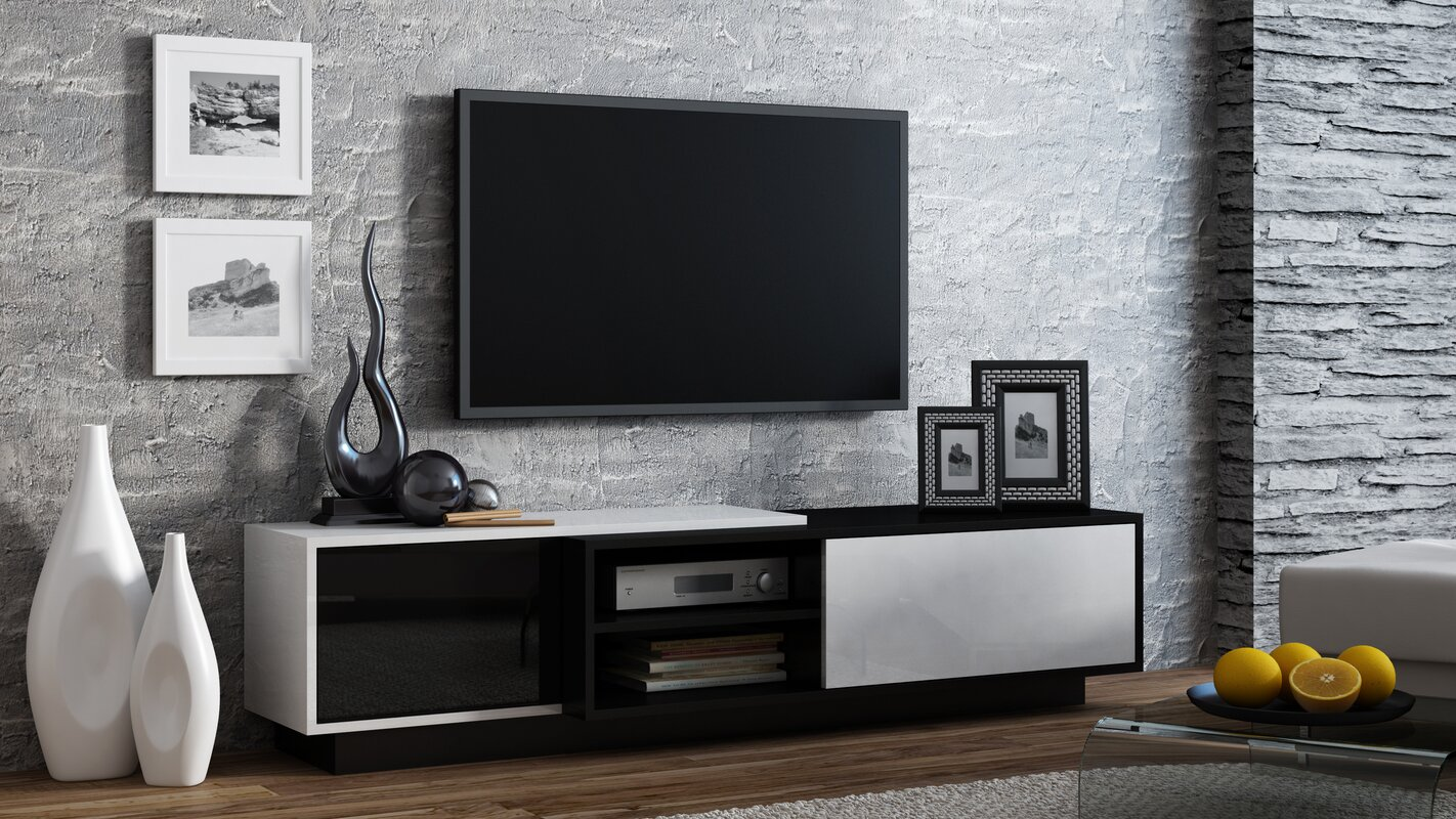 modern 70 inch tv stands entertainment centers allmodern