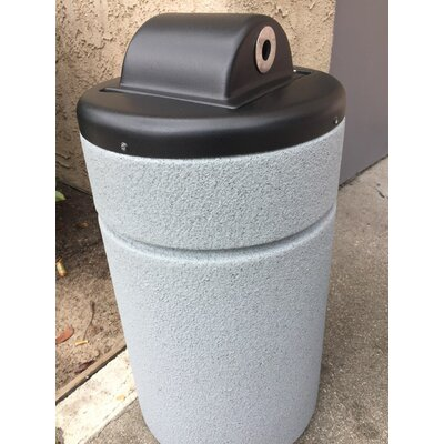 Boulevard 15 Gallon Trash Can & Cigarette Urn Allied Molded Products