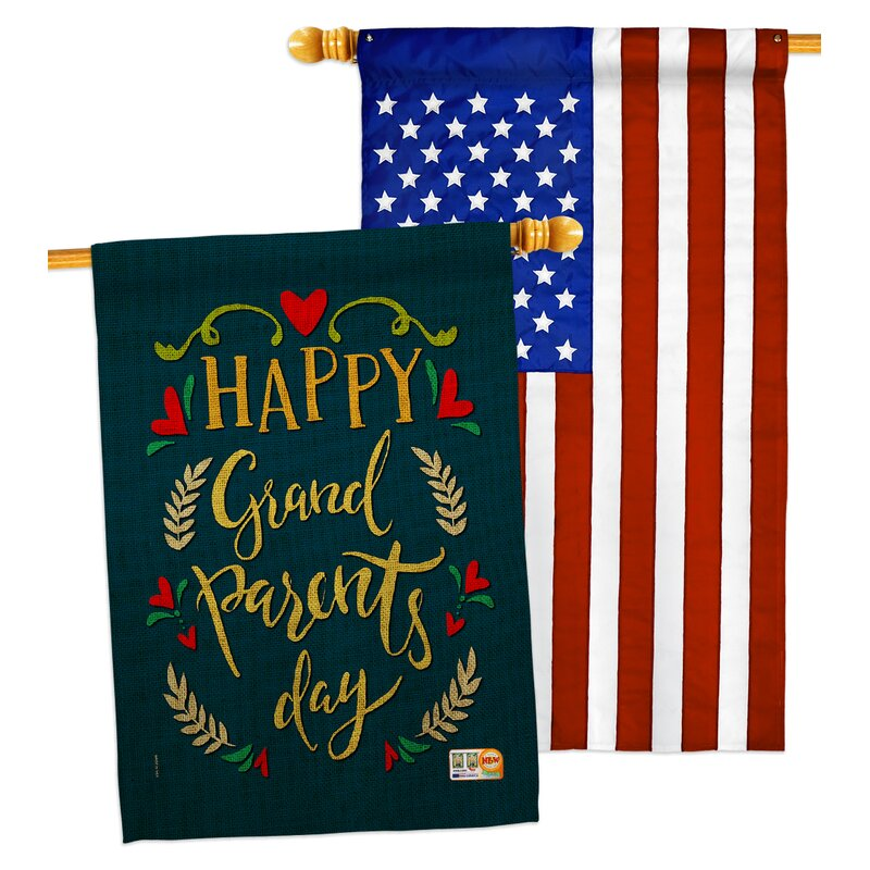 Breeze Decor Grandparents Day 2 Sided Polyester 40 X 28 In House Flag Wayfair