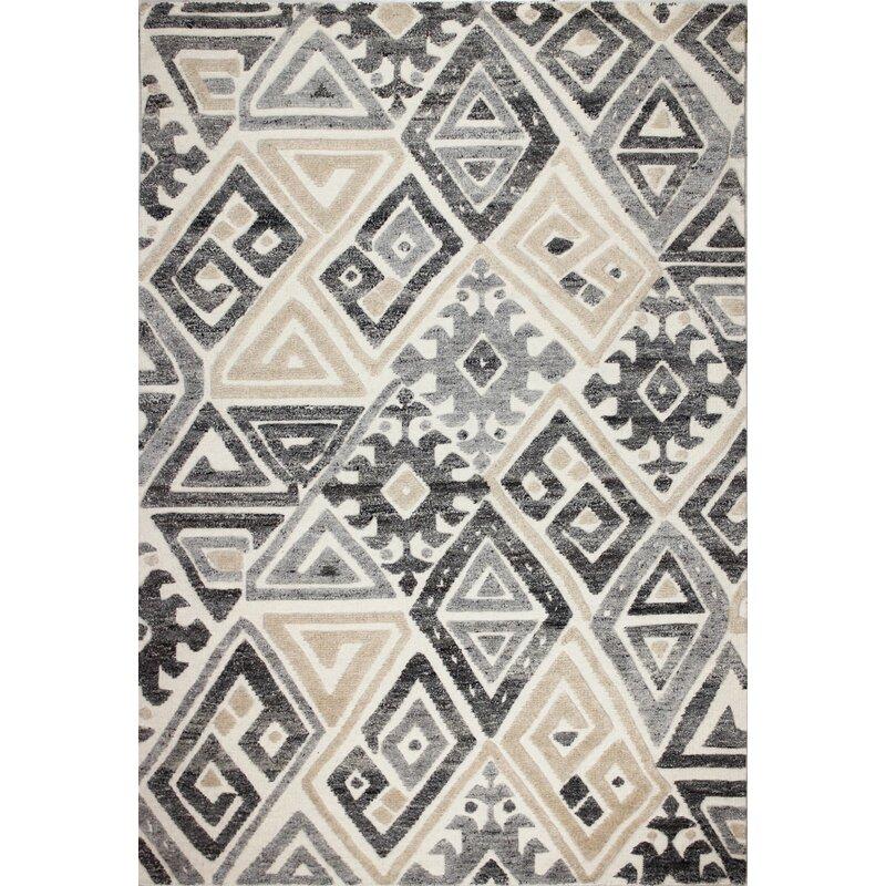 Foundry Select Shanks Geometric Handmade Flatweave Wool Ivory Area