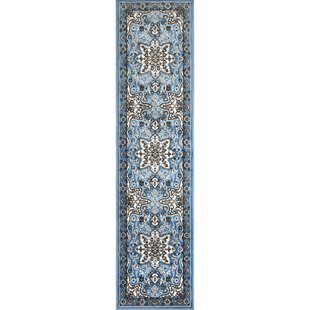 Best Reviews Arend Light Blue/Black Area Rug By Charlton Home