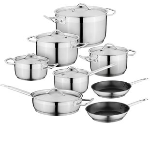 Hotel Essential 14-Piece Stainless Steel Cookware Set
