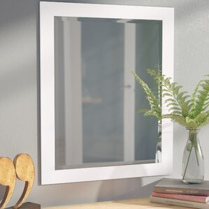 White Framed Wall Mirror mirrors you'll love | wayfair