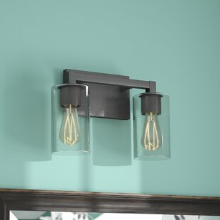Compare & Buy Mcdowell 2-Light Vanity Light with Clear Seeded Glass By Union Rustic