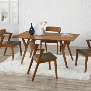 Buckleton Wood 5 Piece Dining Set by George Oliver