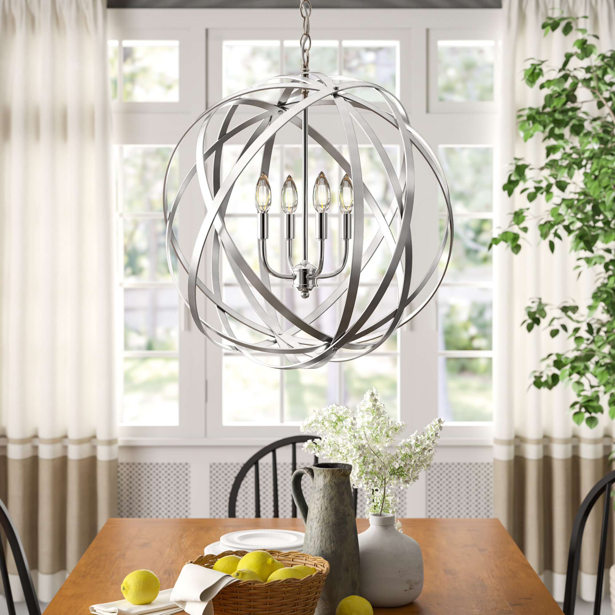 Picture of: Claire 4 Light Globe Pendant Reviews