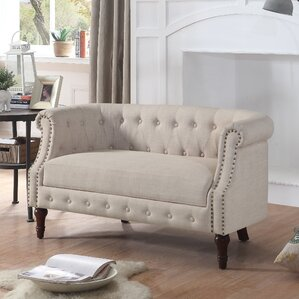 Alcott Hill Edmeston Chesterfield Loveseat