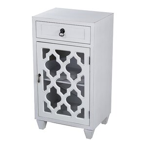 Fairhills 1 Drawer and 1 Door Acccent Cabinet with Glass Insert