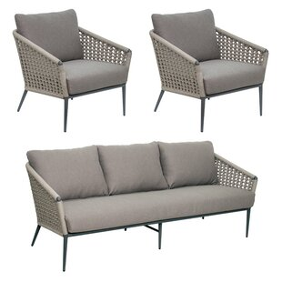 Looking for Archipelago Antilles 3 Piece Rattan Sofa Seating Group with Cushions Purchase Online