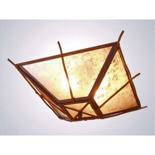 Steel Partners Bundle of Sticks 2-Light Flush Mount