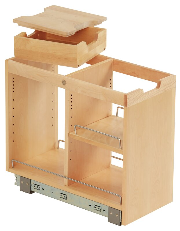 FindIT Kitchen Storage Organization Base Cabinet Pullout With Slide, Half  Tray, Cutting Board And