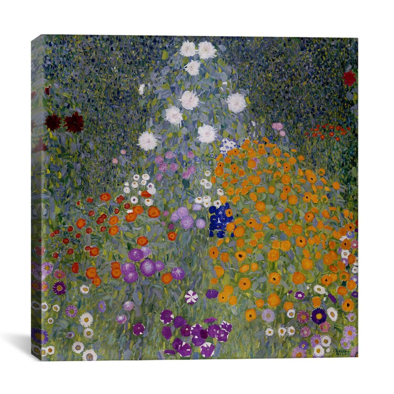 'bauerngarten (flower garden)' by gustav klimt graphic art print